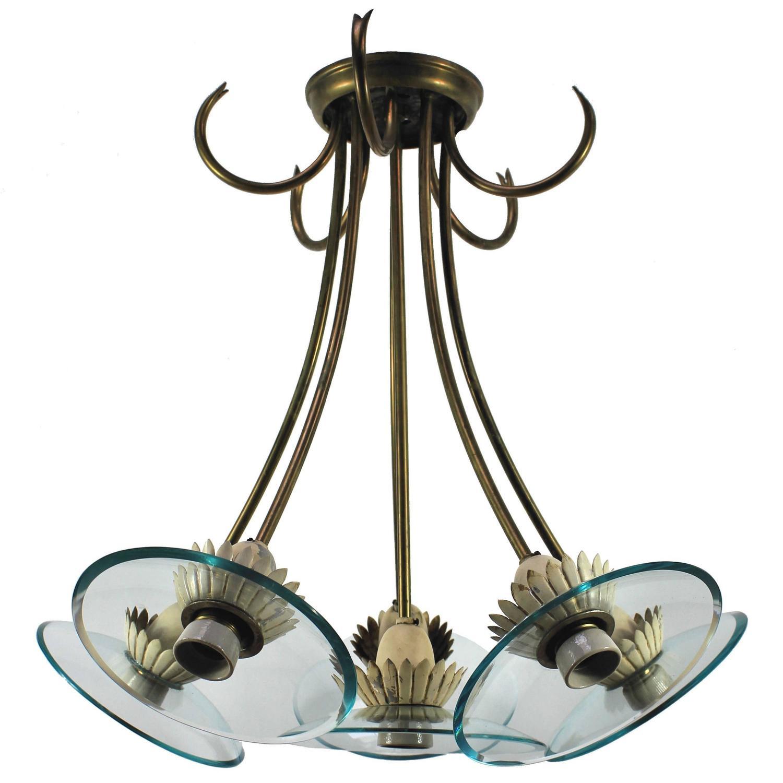 fontana arte style chandelier at 1stdibs. Black Bedroom Furniture Sets. Home Design Ideas