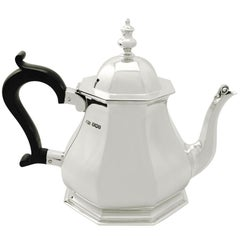 1927 Antique Queen Anne Style  Sterling Silver Teapot