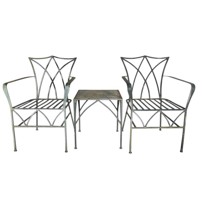 pair elegant wrought iron chairs table furniture for sale gauteng dining outdoor perth