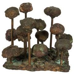 Harry Bertoia Bronze Melt-Pressed Sculpture, USA, 1960s