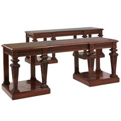 Pair of Mahogany Console Tables by 'Holland and Son'