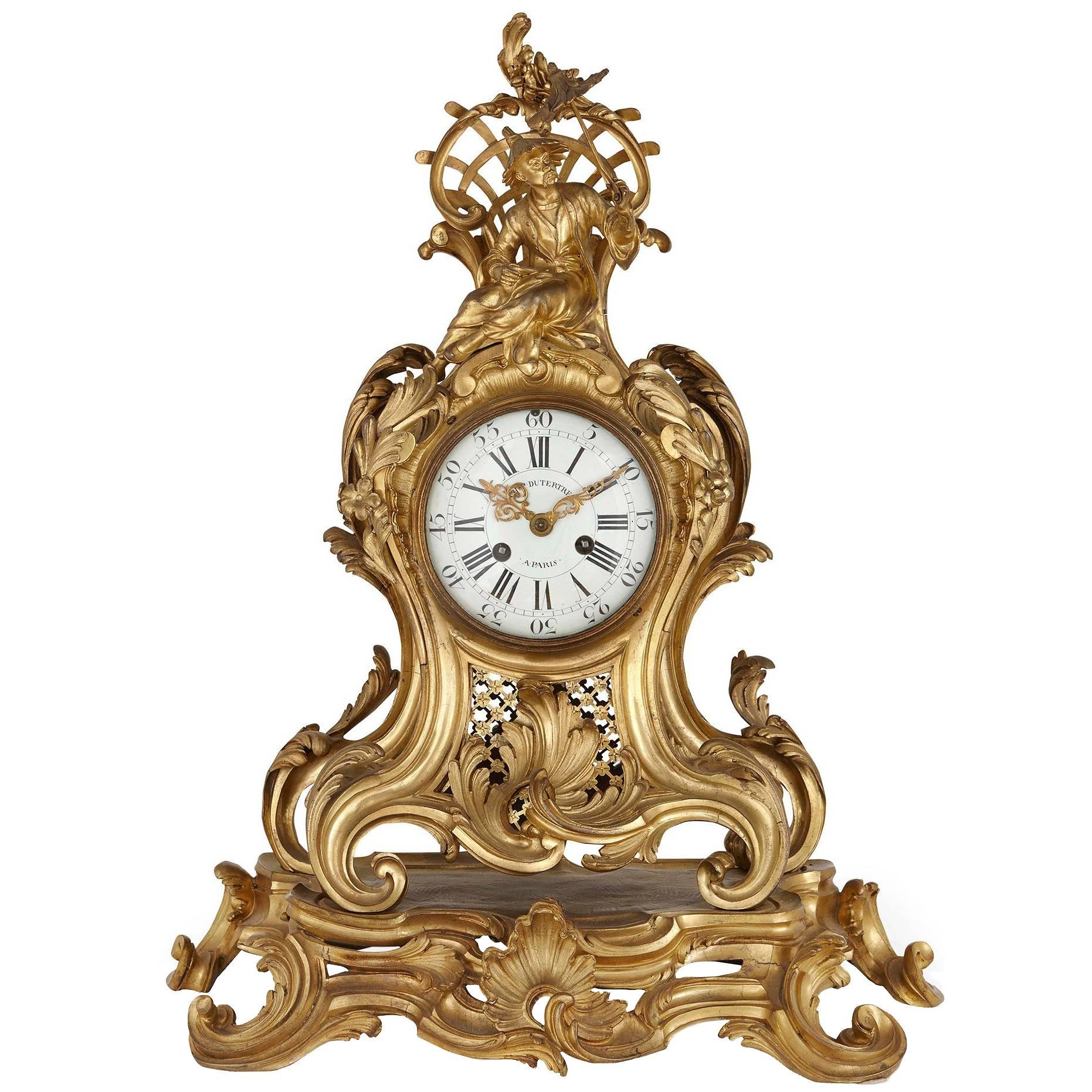 louis xv ormolu mantel clock by charles du tertre in the chinoiserie style for sale at 1stdibs - Mantel Clock