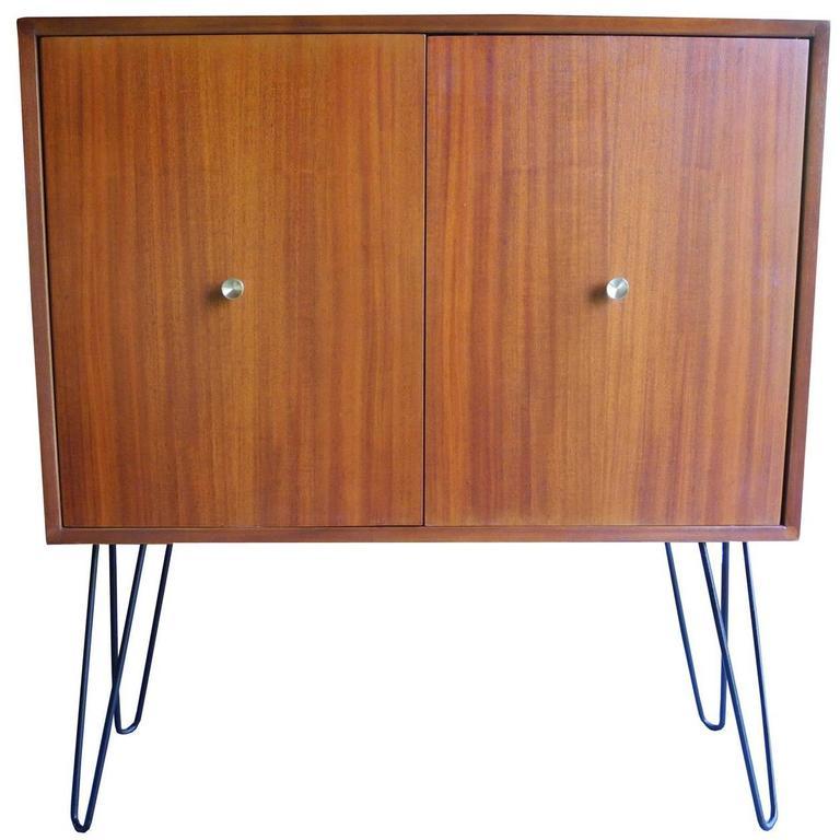 Pleasing Mid Century Modern Mahogany Storage Cabinet By Morris Sanders For Inspirational Interior Design Netriciaus