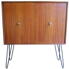 Mid-Century Modern Mahogany Storage Cabinet by Morris Sanders for Mengel Module