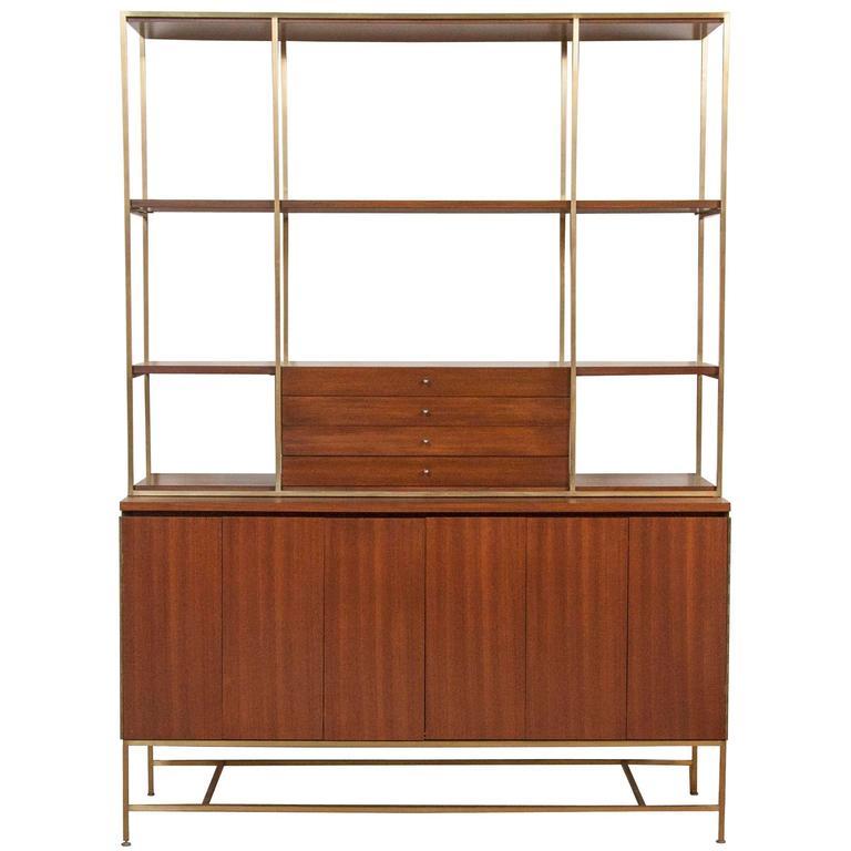 bookcase wood brass bookshelf and f co letsreach
