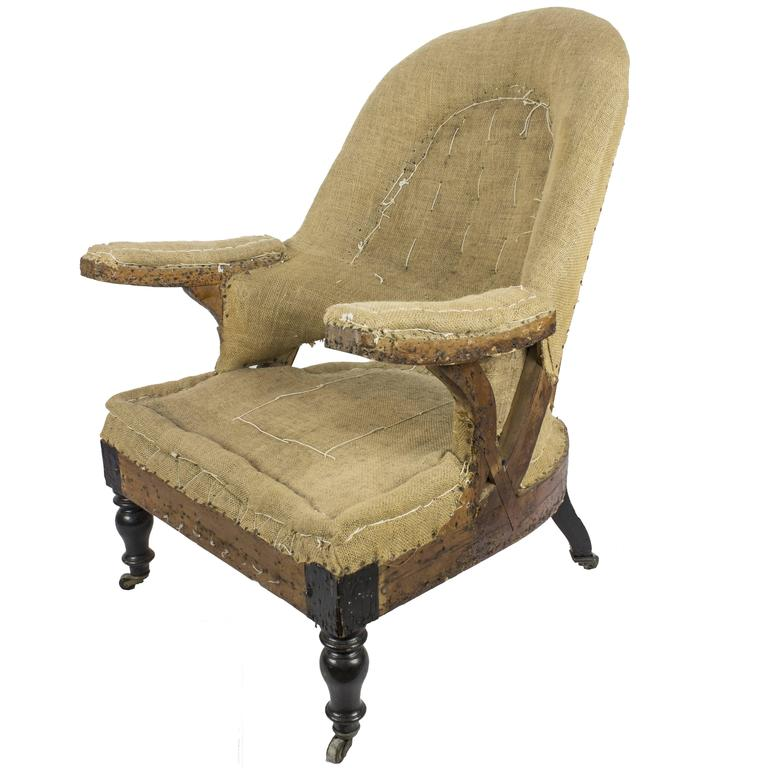 19th Century French Napoleon III Armchair For Sale