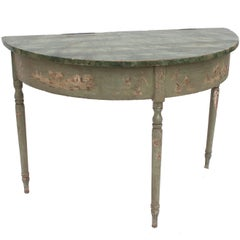 French Demilune Table