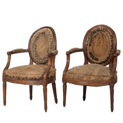 Pair of French Louis XVI Armchairs