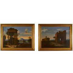Fine Pair of 18th Century Oil Paintings, School of Lorraine