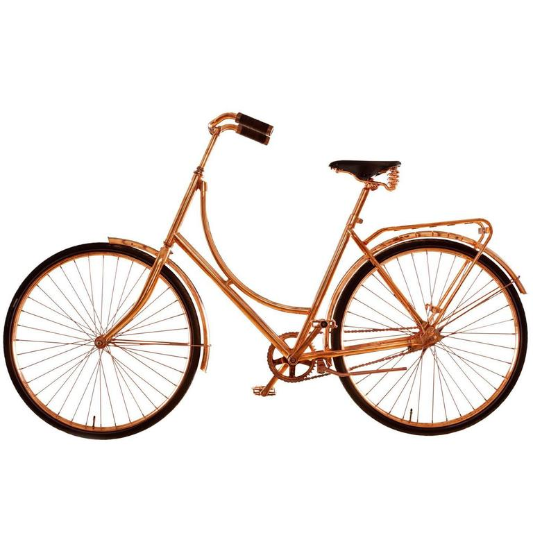 """Van Heesch Design No. 40 """"Copper Bike"""" in Steel, Copper, Leather, 2014"""