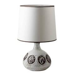 Elegant Ceramic Lamp by Albert Thiry, circa 1970-1980