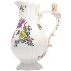 Meissen Ewer with Ladies Bust Handle, circa 1750