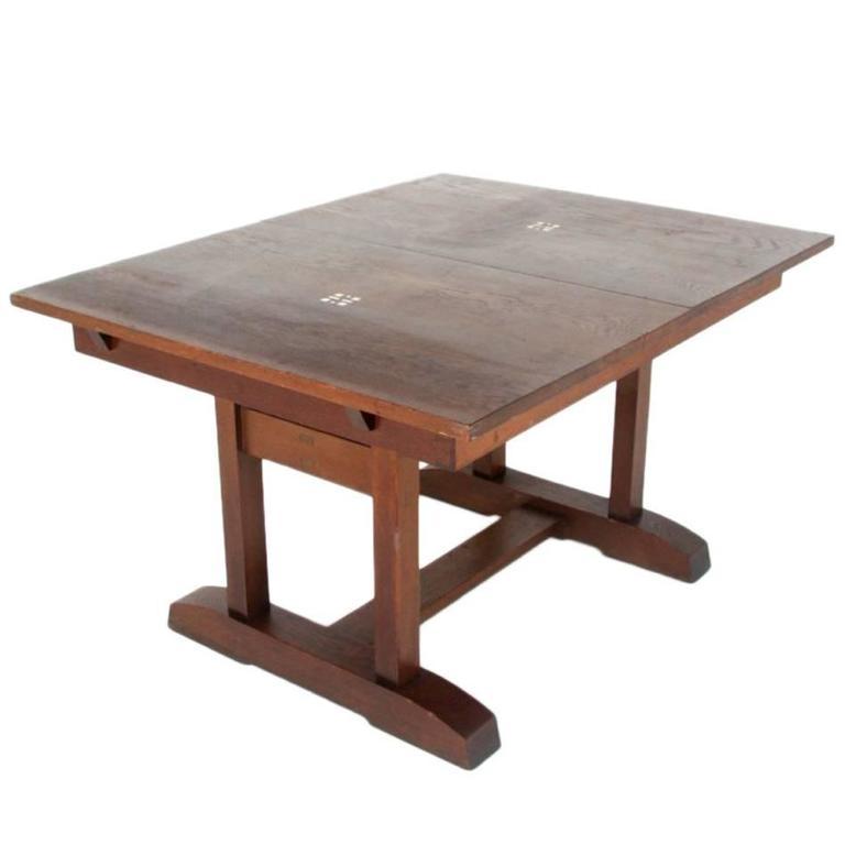 Arts & Crafts Oak Dining Table Circa 1910