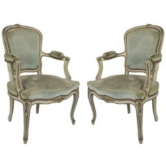 Pair of French Louis XV Style Armchair