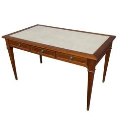 French Neoclassical Style, 1950s Mahogany Desk