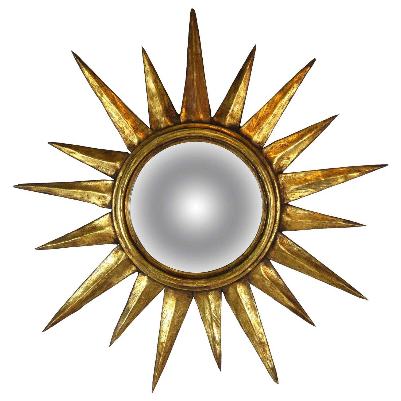 Mid century giltwood sunburst mirror at 1stdibs for Sunburst mirror