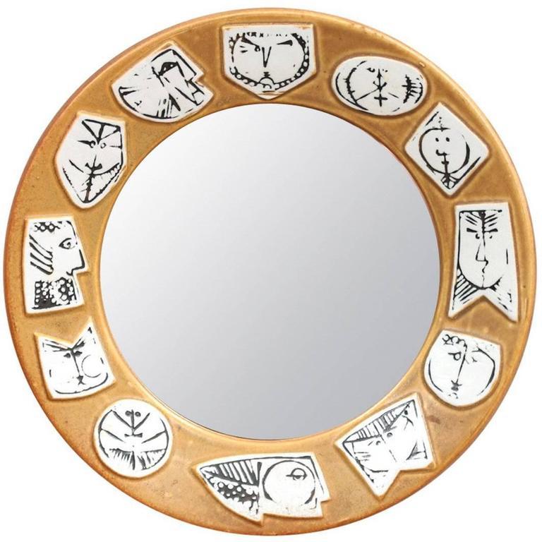 Lisa Larson for Gustavsberg Pottery Mirror