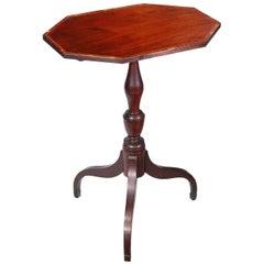 Small Inlaid Mahogany Tilt-Top Table, North Shore Massachusetts, circa 1810
