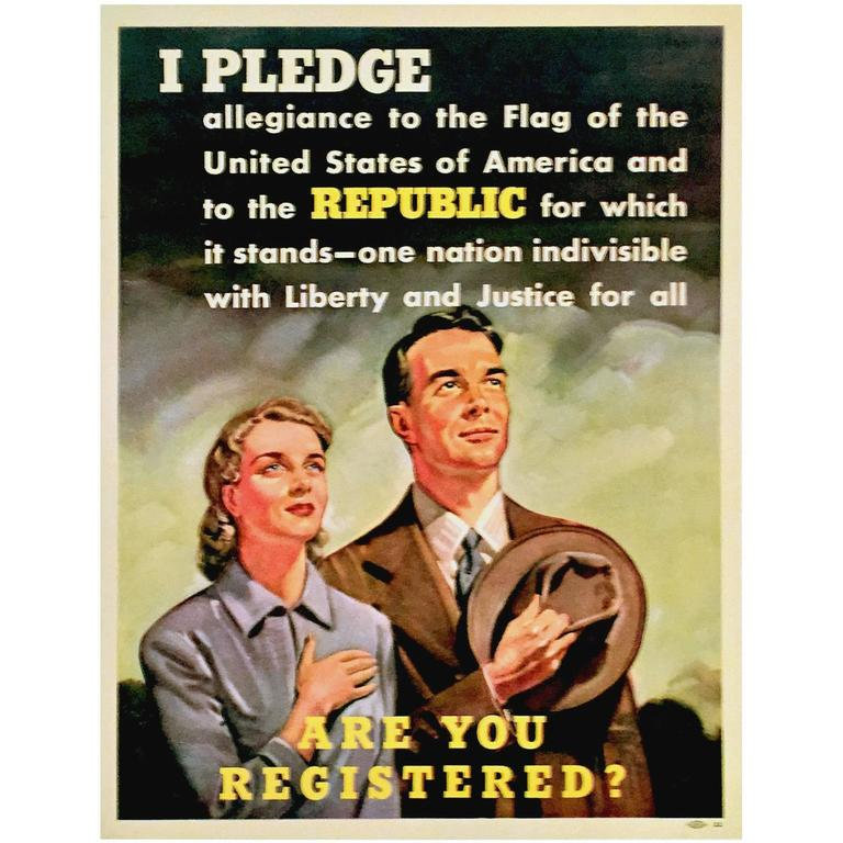 """""""Are You Registered?"""" American Government Poster, 1942"""