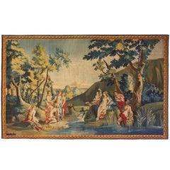 Antique 18th Century Franco-Flemish Mythological Tapestry, with Diana & Callisto