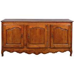 Transitional Louis XV/XVI French Fruitwood Enfilade with Three Doors, circa 1800