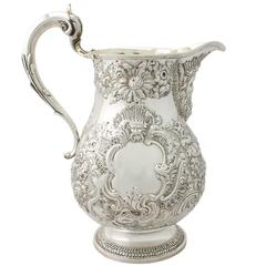 1827 Antique Sterling Silver Ale Jug