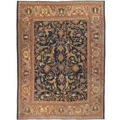Outstanding Antique Persian Ziegler Mahal Rug