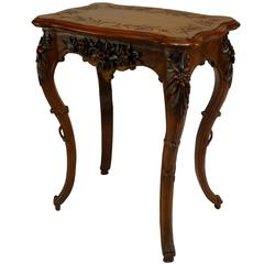 Small 19th Century French Walnut Flip-Top Dressing Table