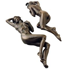 "Tanya Ragir Bronze Sculpture ""Reflection,"" Limited Edition of Nine"