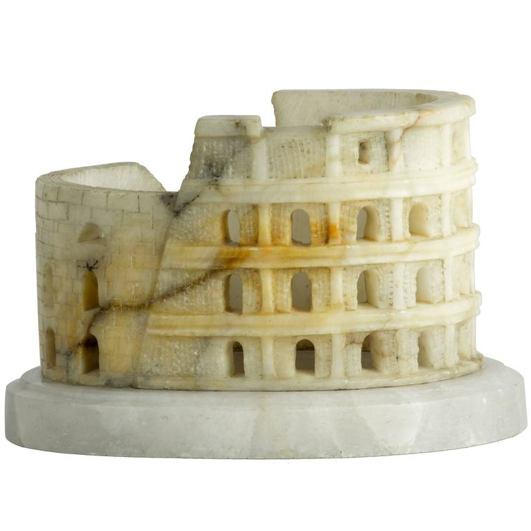 c. 1880 Grand Tour alabaster model of the Colosseum, Rome