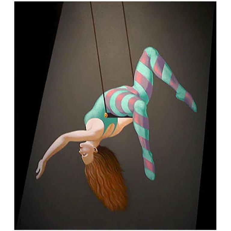 Acrobat II, Painting by Lynn Curlee
