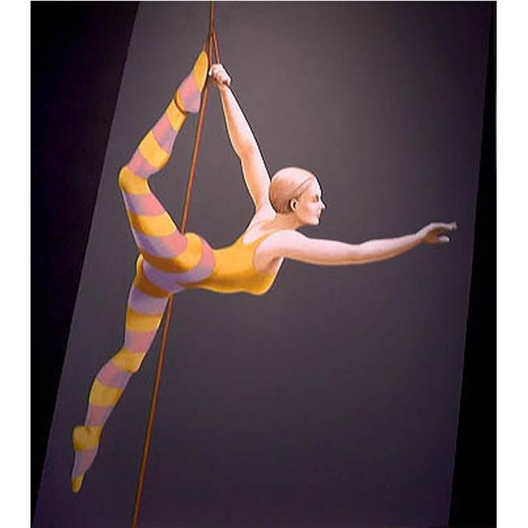Acrobat I, Painting by Lynn Curlee