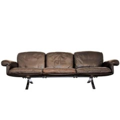 Vintage De Sede DS 31 Three-Seat Sofa 1970`s