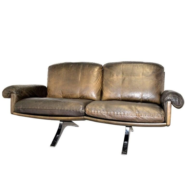 Vintage De Sede DS 31 Two-Seat Sofa or Loveseat 1970s
