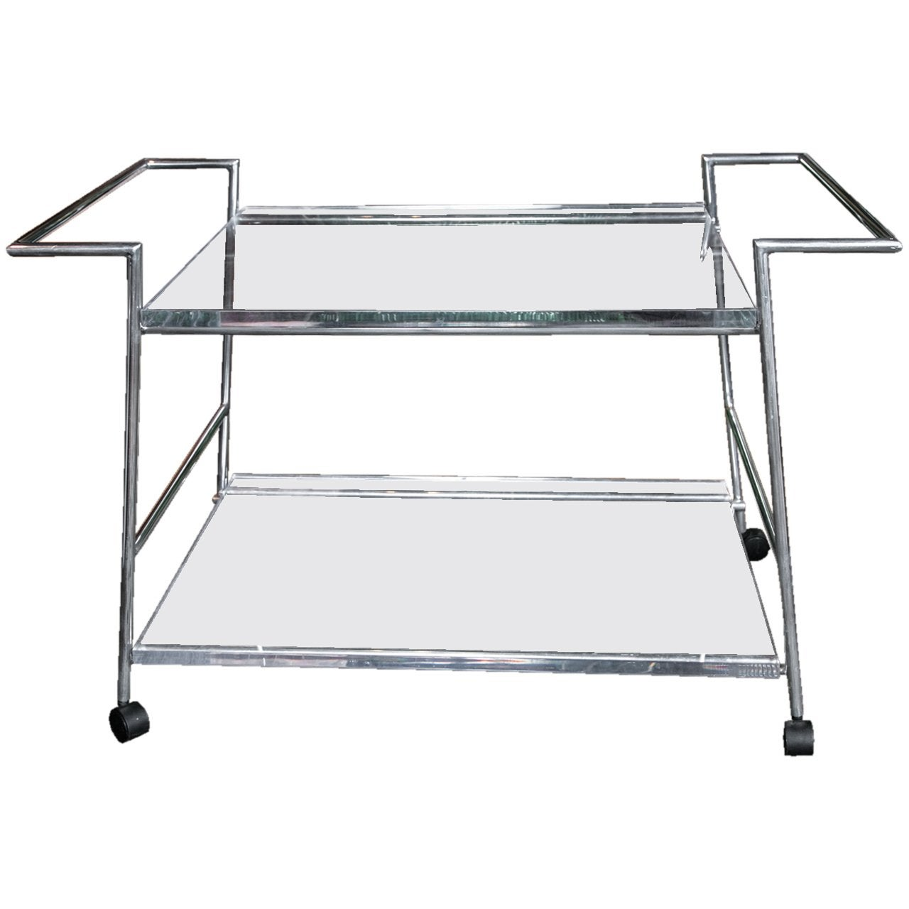 Lucite and Chrome Bar Cart
