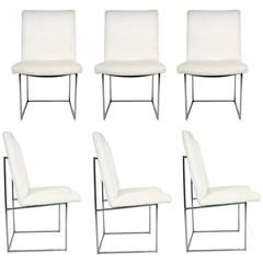 Mint Set of Six Dining Chairs by Milo Baughman for Thayer Coggin