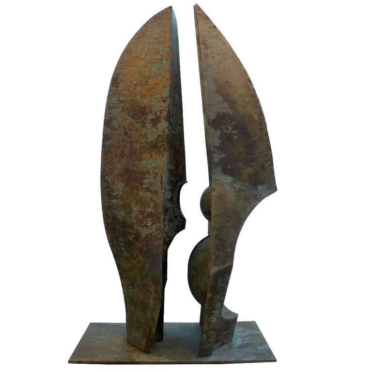 Bronze Sculpture Titled 'Grande Incontro' by Toni Fabris, 1977