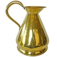 Rare English Brass Gallon Haystack Measure, circa 1850