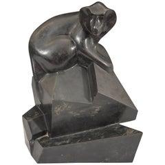 Roberto Estevez Sculptural Baboon in Bronze