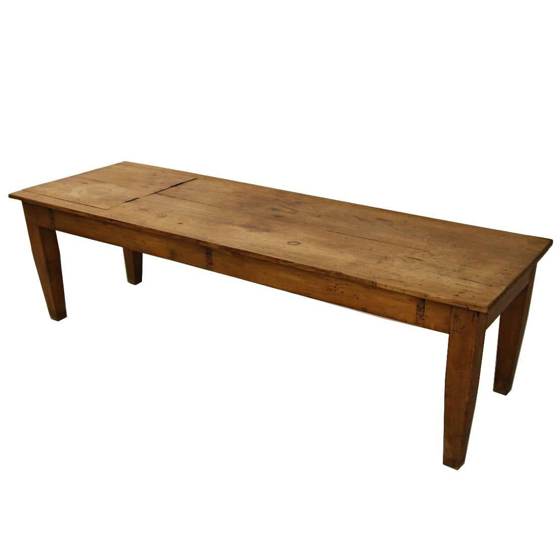Primitive Antique Industrial Farmhouse Style Coffee Table For Sale