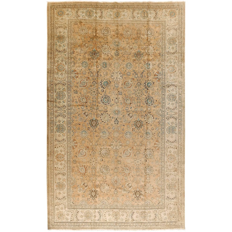 Large Vintage Persian Tabriz Rug