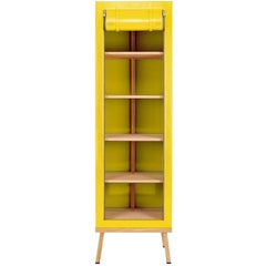Visser and Meijwaard Truecolors Cabinet in Yellow PVC Cloth with Zipper Opening