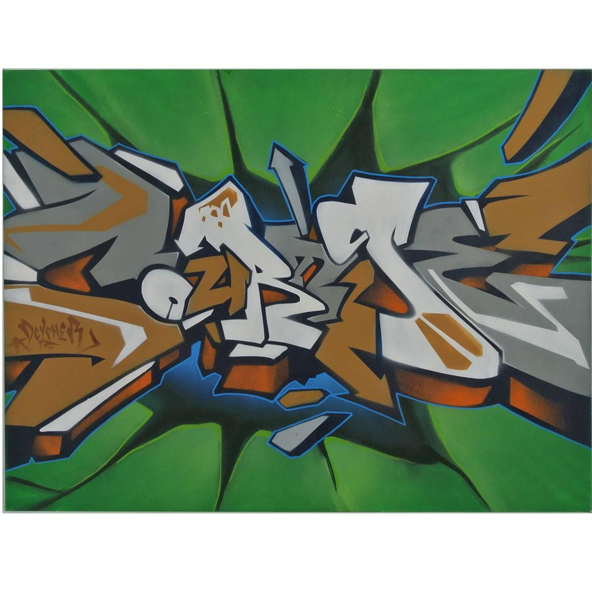 Southern California Graffiti Artist, Acrylic on canvas painting