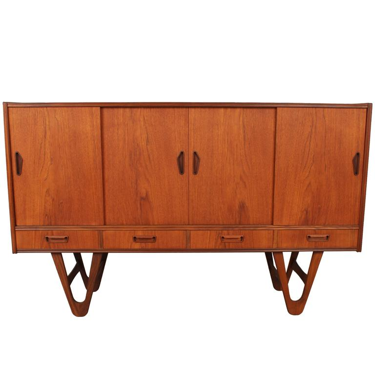 2fdfe860332b Midcentury Danish Teak Credenza or Buffet with Hairpin Legs at 1stdibs