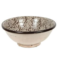 Moroccan Ceramic Bowl with Arabic Calligraphy