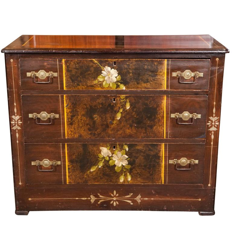American Painted Chest of Drawers