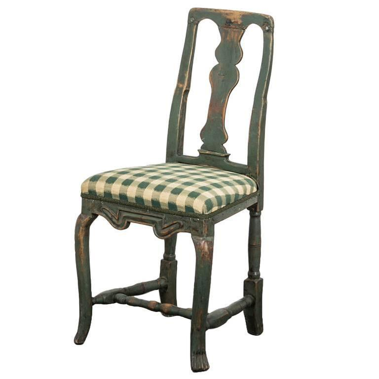 Single Baroque Chair, 18th Century, Sweden