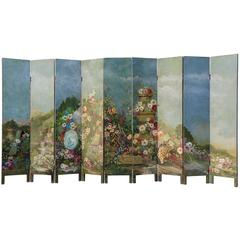 Old Hand-Painted Screen Double-Sided
