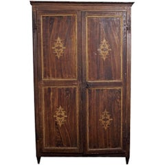 Antique Italian Louis XIV Style Painted Armoire