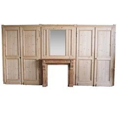 19th Century French Paneling, Two Double Doors, One Trumeau, One Mantle